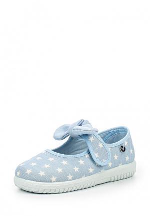 Туфли Victoria. Цвет: голубой
