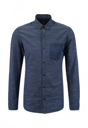 Рубашка s.Oliver Denim. Цвет: синий