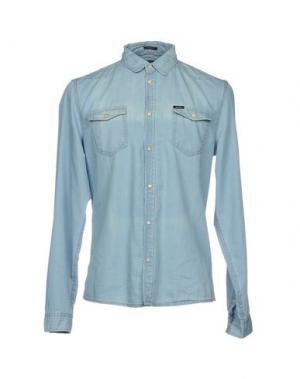 Джинсовая рубашка GUESS. Цвет: синий
