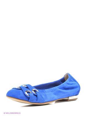 Балетки HOGL. Цвет: синий