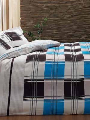 Постельное белье OZDILEK. Цвет: серый, коричневый, голубой, бежевый