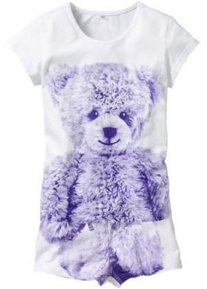 Пижама Медвежонок (2 изд.) (белый с рисунком) bonprix. Цвет: белый с рисунком