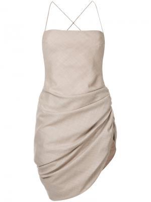 Платье со сборками Jacquemus. Цвет: телесный