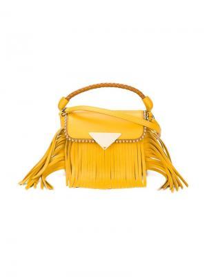 Сумка Amber mini Sara Battaglia. Цвет: жёлтый и оранжевый