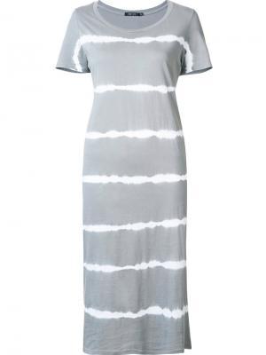 Платье с принтом-тайдай Obey. Цвет: серый