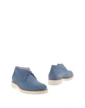 Полусапоги и высокие ботинки GUARDIANI SPORT. Цвет: небесно-голубой