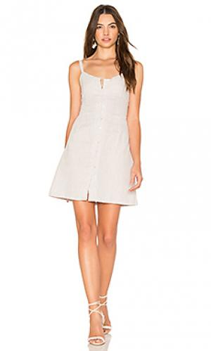 Короткое платье saltillo Cleobella. Цвет: серый