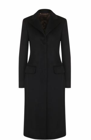 Однобортное приталенное пальто из кашемира Colombo. Цвет: темно-синий