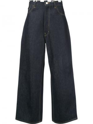 Широкие джинсы Facetasm. Цвет: синий