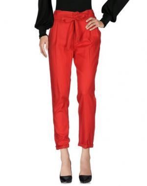Повседневные брюки NOLITA. Цвет: красный