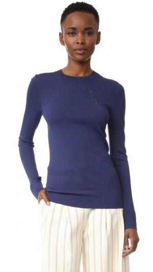 Пуловер с контрастной отделкой Grey Jason Wu. Цвет: морской/глубокий лес