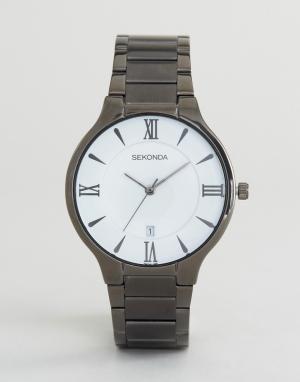 Sekonda Часы с белым циферблатом и черным браслетом эксклюзивно для AS. Цвет: черный