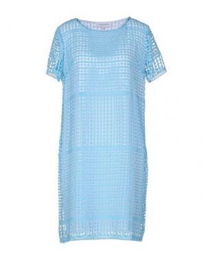 Короткое платье ANNA RACHELE. Цвет: небесно-голубой