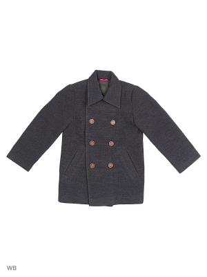 Пальто Виваллино. Цвет: серый