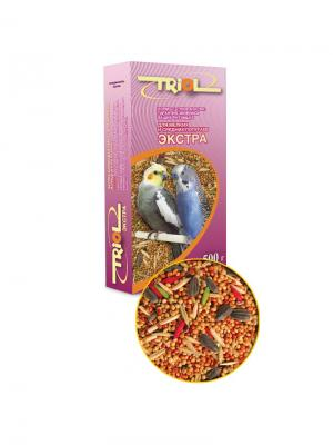 Корм для мелких и средних попугаев Экстра TRIOL. Цвет: фиолетовый