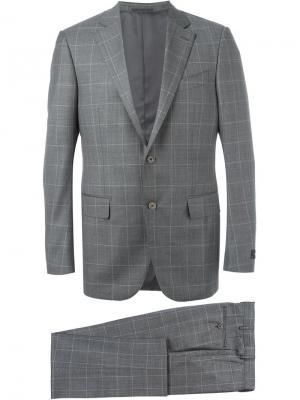 Классический костюм Ermenegildo Zegna. Цвет: серый