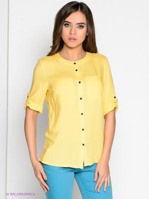 Блузка Marlen. Цвет: желтый