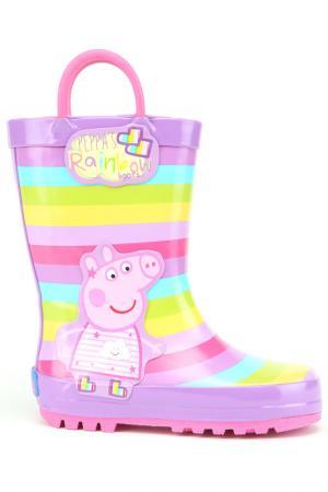 Резиновые сапожки Peppa Pig. Цвет: сиреневые