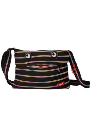 Сумка Monster Shoulder Bag ZIPIT. Цвет: черный