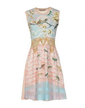 Короткое платье PICCIONE•PICCIONE. Цвет: розовый
