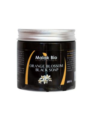 Чёрное мыло из  цветков апельсина Malak bio. Цвет: темно-зеленый