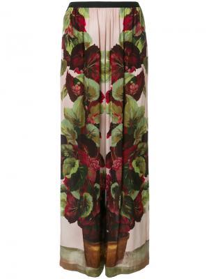 Брюки палаццо с цветочным принтом Antonio Marras. Цвет: многоцветный