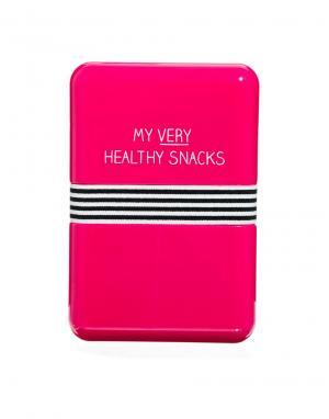 Happy Jackson Чемоданчик для завтрака Healthy Snacks. Цвет: розовый