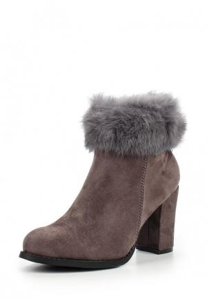 Ботильоны WS Shoes. Цвет: серый