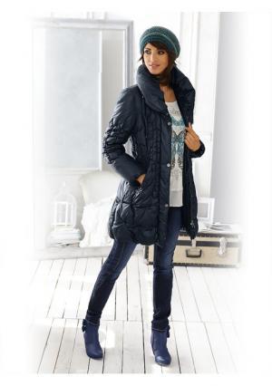 Стеганое пальто Linea Tesini. Цвет: серо-коричневый, темно-синий