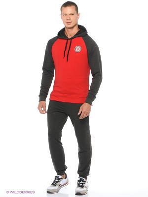 Спортивный костюм  Ник Runika. Цвет: антрацитовый, серый меланж, красный