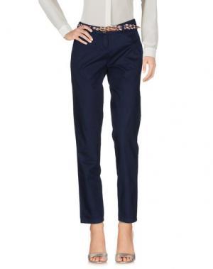Повседневные брюки TIMEOUT. Цвет: темно-синий