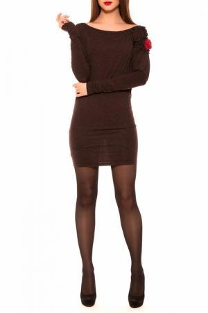 Платье Majaly. Цвет: коричневый