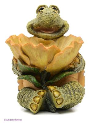Декоративное изделие Черепаха с листом Sealmark. Цвет: хаки, горчичный, темно-коричневый
