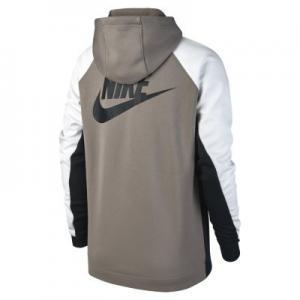 Женская худи с молнией на половину длины  Sportswear Nike. Цвет: коричневый