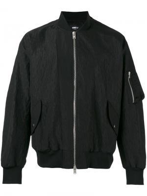 Куртка-бомбер свободного кроя Yang Li. Цвет: чёрный