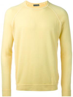 Round neck jumper Drumohr. Цвет: жёлтый и оранжевый