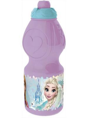 Бутылка пластиковая (спортивная, фигурная, 400 мл). Холодное сердце Цветы Stor. Цвет: фиолетовый