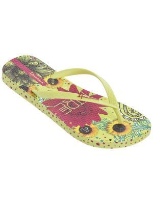 Шлепанцы Ipanema. Цвет: желтый, салатовый, розовый