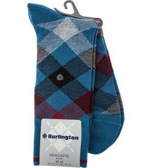 Тонкие носки из шерсти Burlington. Цвет: синий
