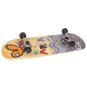Скейтборд в сборе детский  Sweet Raspberry Multi 28 x 8 (20.3 см) Fun4U. Цвет: мультиколор