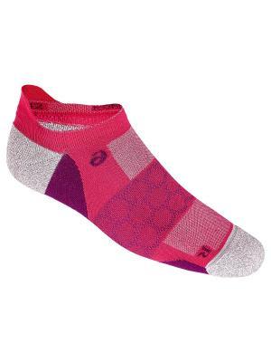 Носки ROAD NEUTRAL PED SINGLE TAB ASICS. Цвет: розовый, серый, фиолетовый