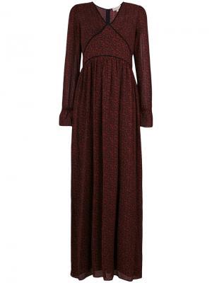 Приталенное длинное платье Michael Kors. Цвет: красный