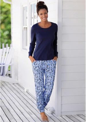 Пижама VIVANCE. Цвет: синий с рисунком, ягодный с рисунком