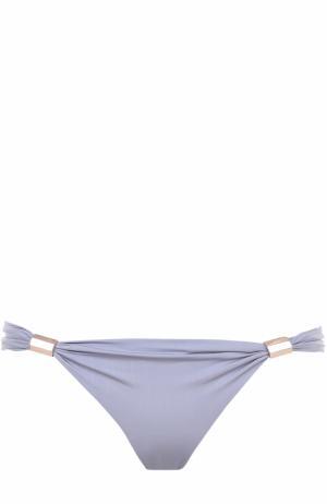 Плавки-бикини с драпировкой Lazul. Цвет: серый