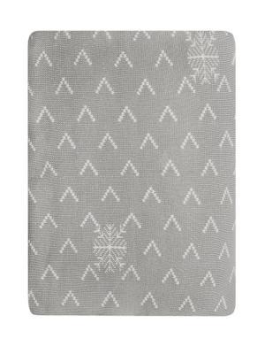 Плед  Снежный серый 140*190, 100% хлопок. ARLONI. Цвет: антрацитовый, серый