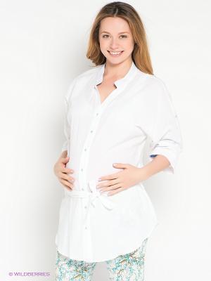 Блузка UNIOSTAR. Цвет: белый