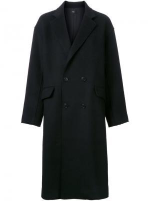 Пальто Raw Edge G.V.G.V.. Цвет: чёрный