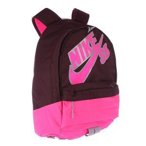 Рюкзак городской  Sb-Piedmont 609 Merlot/Wolf Grey/Pink Nike. Цвет: розовый,бордовый