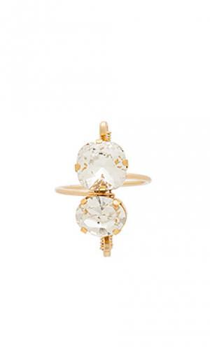 Alma ring Mimi & Lu. Цвет: металлический золотой