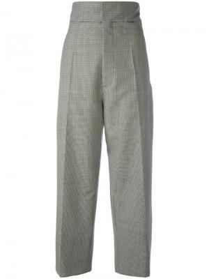 Прямые брюки с мелким узором Jacquemus. Цвет: чёрный